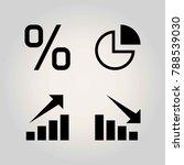 technology vector icon set. pie ... | Shutterstock .eps vector #788539030