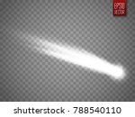 vector comet with large dust.... | Shutterstock .eps vector #788540110