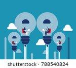best ideas. business people... | Shutterstock .eps vector #788540824