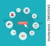 icons flat style flasher siren  ... | Shutterstock .eps vector #788543563