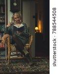 mature blonde intellectual...   Shutterstock . vector #788544508