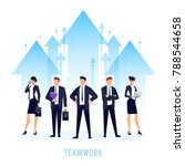 teamwork. business concept with ... | Shutterstock .eps vector #788544658