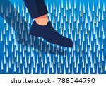 the businessman entered the... | Shutterstock .eps vector #788544790