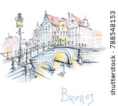 vector scenic color city sketch ...   Shutterstock .eps vector #788548153