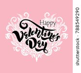 happy valentines day typography ... | Shutterstock .eps vector #788549290