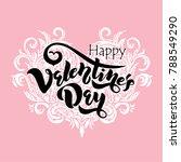 happy valentines day typography ... | Shutterstock .eps vector #788549290
