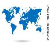 color world map vector | Shutterstock .eps vector #788549524