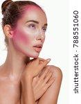 high fashion model girl... | Shutterstock . vector #788551060