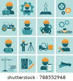 engineering icon set. engineer... | Shutterstock .eps vector #788552968