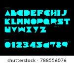 impact bold neon font set | Shutterstock .eps vector #788556076