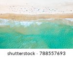 looking down at people swimming ... | Shutterstock . vector #788557693