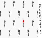 tulips seamless pattern. vector ...   Shutterstock .eps vector #788559334