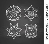 vintage sheriff and marshal... | Shutterstock .eps vector #788559580