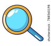 magnifier icon. cartoon...