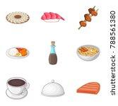 mess icons set. cartoon set of... | Shutterstock .eps vector #788561380