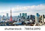 tokyo city view with tokyo... | Shutterstock . vector #788561890