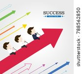 business team to success   Shutterstock .eps vector #788562850