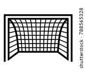 goal football icon. simple... | Shutterstock .eps vector #788565328