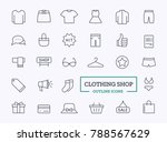 clothes icons. vector thin line ...   Shutterstock .eps vector #788567629