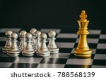the king in battle chess game... | Shutterstock . vector #788568139