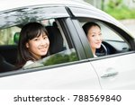 asian parent and daughter in a ... | Shutterstock . vector #788569840