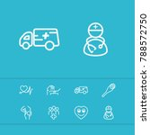 healthcare icons set with...   Shutterstock . vector #788572750