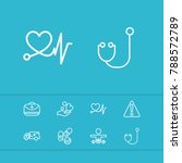 healthcare icons set with... | Shutterstock .eps vector #788572789