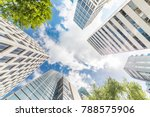 fresh green and building groups | Shutterstock . vector #788575906