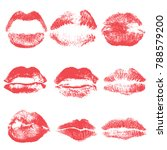 female kiss shape lips... | Shutterstock .eps vector #788579200