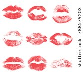 set of lips or lip shaped women ... | Shutterstock .eps vector #788579203
