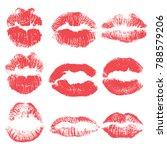 female kiss shape lips... | Shutterstock .eps vector #788579206