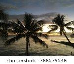 sunset in paradise | Shutterstock . vector #788579548