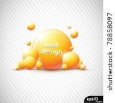 abstract orange speech bubble ... | Shutterstock .eps vector #78858097