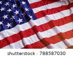 screwed up usa flag. america... | Shutterstock . vector #788587030