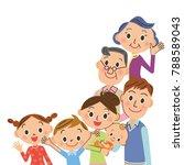 good friend three generations... | Shutterstock .eps vector #788589043