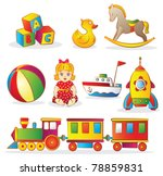 set of colorful children's toys | Shutterstock .eps vector #78859831