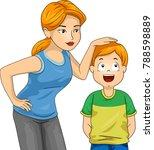 illustration of a mom measuring ... | Shutterstock .eps vector #788598889