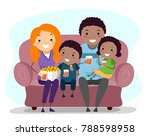 illustration of an african... | Shutterstock .eps vector #788598958