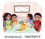 illustration of stickman... | Shutterstock .eps vector #788598979
