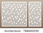 set decorative card for cutting.... | Shutterstock .eps vector #788600350