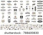 vintage retro vector logo for... | Shutterstock .eps vector #788600830