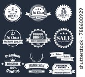 vintage retro vector logo for... | Shutterstock .eps vector #788600929