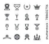 award icon set | Shutterstock .eps vector #788602756