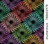 abstract radial circles... | Shutterstock .eps vector #788602978