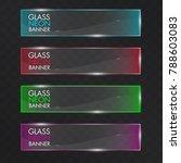 glass neon transparent abstract ...   Shutterstock .eps vector #788603083