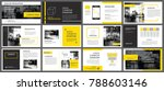 yellow element for slide... | Shutterstock .eps vector #788603146