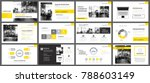 yellow presentation templates... | Shutterstock .eps vector #788603149