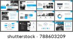 blue presentation templates and ... | Shutterstock .eps vector #788603209