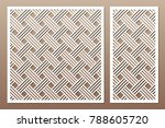 set decorative card for cutting.... | Shutterstock .eps vector #788605720