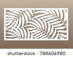decorative card for cutting.... | Shutterstock .eps vector #788606980